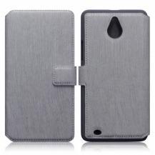 Slimmat Plånboksfodral till Microsoft Lumia 850 - Grå