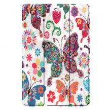 """A-One BrandTri-fold Fodral för Samsung Galaxy Tab S5e 10.5"""" - Blommor och Fjärilar"""