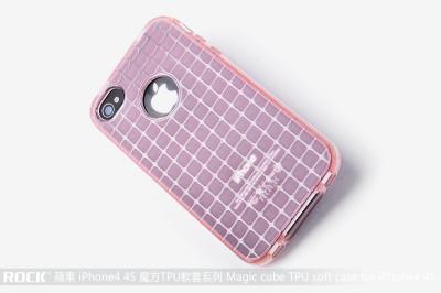 Rock Flexicase skydd till Apple iPhone 4 och 4S (Rosa)