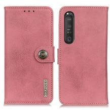 KHAZNEHKhanzeh - Plånboksfodral Sony Xperia 1 III - Rosa