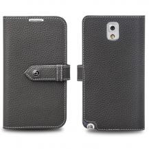 QIALINOQialino Exklusivt Plånboksfodral till Samsung Galaxy Note 3 N9000 (Grå)