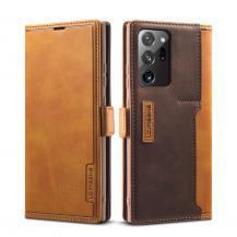 LC.imeekeLC.IMEEKE Leather Card Holder Fodral Till Galaxy Note 20 Ultra - Brun