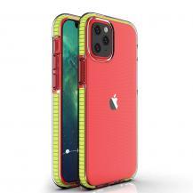 HurtelSpring Case iPhone 12/12 Pro skal gul