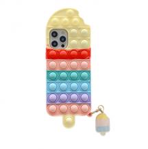 Fidget ToysIce Cream Pop it Fidget Skal till iPhone 7/8/SE 2020 - Röd