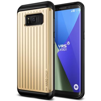 Verus Waved Hard Drop Skal till Samsung Galaxy S8 - Gold