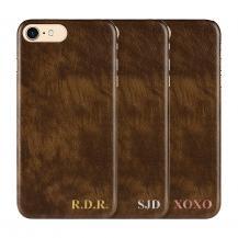 Designa själv - iPhone 8 Plus konstläder skal - BRUN