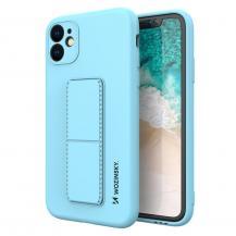 WozinskyWozinsky Kickstand Silicone Skal iPhone 7/8/SE 2020 - Ljus Blå