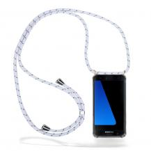 CoveredGear-NecklaceCoveredGear Necklace Case Samsung Galaxy S7 - White Stripes Cord