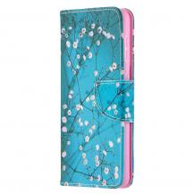 A-One BrandPlånboksfodral till Samsung Galaxy S21 Ultra - Gröna Blommor
