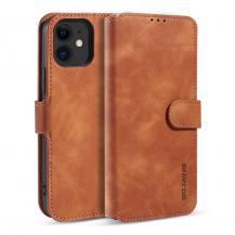 DG.MINGDG.MING Retro Läder Plånboksfodral iPhone 12 Mini - Brun