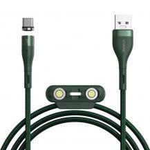 BASEUSBaseus Zinc 3in1 USB lightning/USB Type C/micro USB Kabel Grön