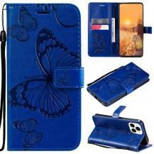 OEMFjärilar Plånboksfodral iPhone 13 Pro Max - Blå