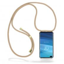 CoveredGear-NecklaceCoveredGear Necklace Case Samsung Galaxy S10 Plus - Beige Cord