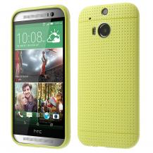 A-One BrandDot Case FlexiSkal till HTC One (M8) - Gul