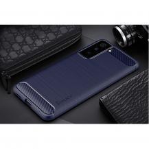 A-One BrandCarbon Fiber Mobilskal Samsung Galaxy S21 - Blå