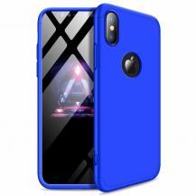 GKKGKK 360 Protection Fram bak skal iPhone XS Max Blå logo hole