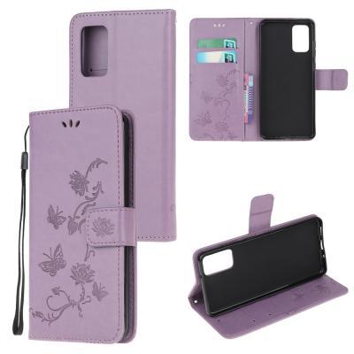 Butterfly Plånboksfodral till Samsung Galaxy S20 Plus - Lila