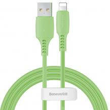 BASEUSBaseus färgglad Kabel USB/lightning 2.4A 1.2m Grön