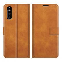 OEMFlip Folio Plånboksfodral Sony Xperia 10 III - Brun