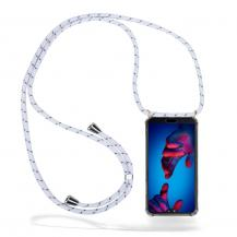 CoveredGear-NecklaceCoveredGear Necklace Case Huawei P20 - White Stripes Cord