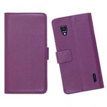 OEMEmbossed Plånboksväska till LG Optimus L9 (Lila)