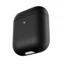 KeyBudzPodSkinz Artisan - Handgjort Läderfodral för dina Airpods - Brun