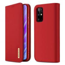 Dux Ducis Wish Series Äkta Läderfodral till Galaxy S20 Plus - Röd