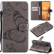 OEMFjärilar Plånboksfodral iPhone 13 - Grå