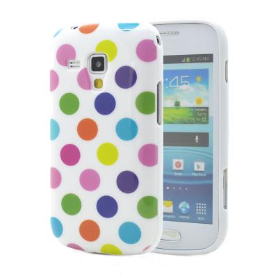 Polka dots FlexiSkal till Samsung Galaxy S3 i9300 (Multi Vit)