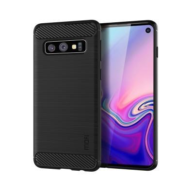 Carbon Brushed Mobilskal till Samsung Galaxy S10 - Svart