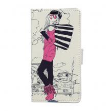 OEMPlånboksfodral till Samsung Galaxy J5 - Fashion Girl