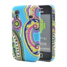 OEMBaksidesskal till Samsung Galaxy Ace - Blåmönstrad