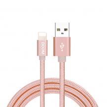 Boom of SwedenBoom of Sweden - Nylon USB till Lightning Kabel, 2.1A, 2M - Rose Gold