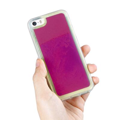Liquid Neon Sand skal till iPhone 5/5s/SE - Violet