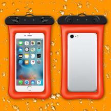 A-One BrandFlytande Vattentätt universalt mobilfodral - Orange