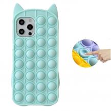 Fidget ToysKatt Pop it Fidget Multicolor Skal till iPhone 11