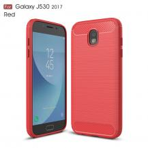 OEMCarbon Brushed Skal till Samsung Galaxy J3 (2017) - Röd