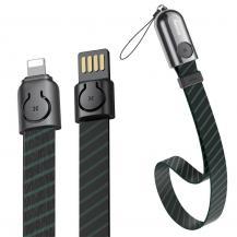 BASEUSBaseus Gold Collar Kabel USB lightning 2.4A 35cm Stripe Svart
