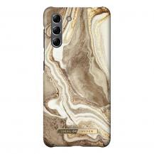 iDeal of SwedeniDeal Fashion Skal Samsung Galaxy S21 - Golden Sand Marble