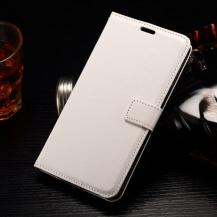 A-One BrandCrazy Horse Plånboksfodral till LG G4 Stylus - Vit