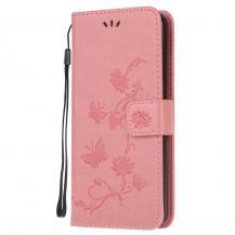 A-One BrandImprint Butterfly Plånboksfodral till Galaxy S21 Ultra - Rosa