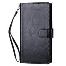 A-One Brand2-i-1 Plånboksfodral 9 Kortplatser iPhone 13 Pro Max - Svart