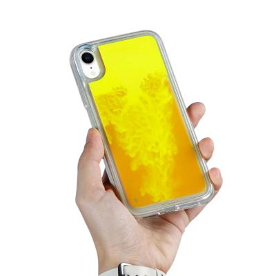Liquid Neon Sand skal till iPhone XR - Orange