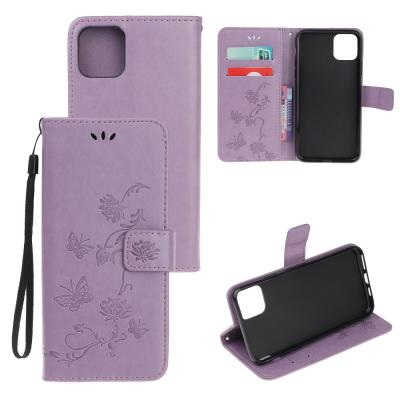 Butterfly Plånboksfodral till iPhone 11 Pro Max - Lila