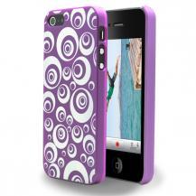 A-One BrandBaksidesskal till Apple iPhone 5/5S/SE Cirklar (Lila)