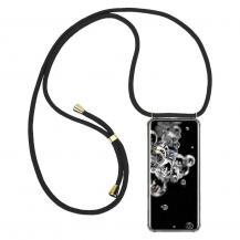 CoveredGear-NecklaceCoveredGear Necklace Case Samsung Galaxy S20 Ultra - Black Cord