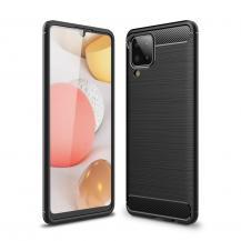 A-One BrandCarbon Fiber Skal till Samsung Galaxy A12 - Svart