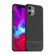 iPakyIPAKY Carbon Fiber Skal iPhone 12 & 12 Pro - Svart