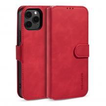 DG.MINGDG.MING Retro Läder Plånboksfodral iPhone 12 & 12 Pro - Röd