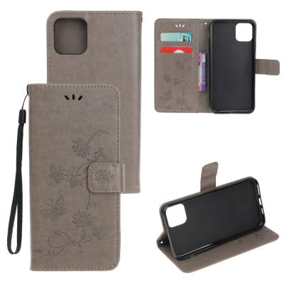 Butterfly Plånboksfodral till iPhone 11 - Grå